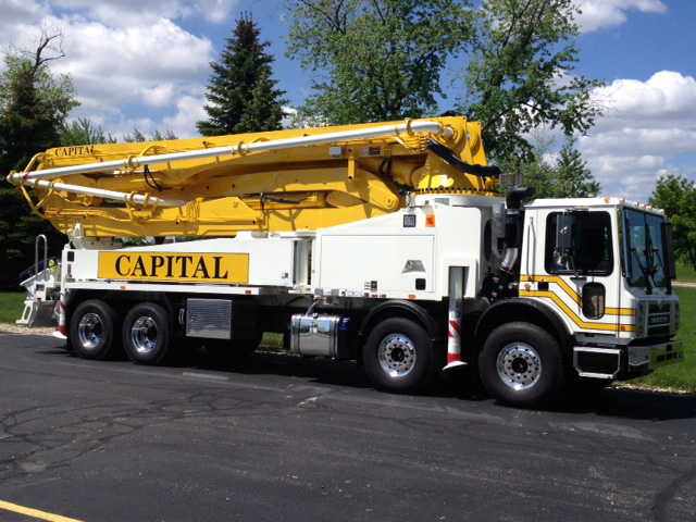 Putzmeister Concrete Pumping Truck - Boom Pump used by Capital Concrete Pumping